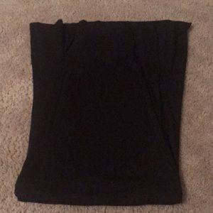 Women's black maxi skirt